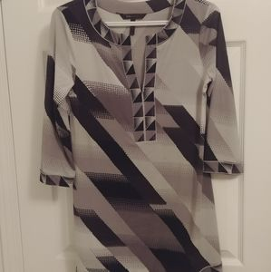 BCBGMaxazria black and white dress - size XS